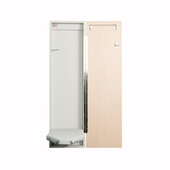 Iron-A-Way IAW-42 Economy Surface or Flush Mount Ironing Center with Wood Door Options, Cool Grey Interior, Unfinished Exterior, 14-1/2'' W x 3-3/4'' D x 51'' H