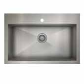 ProInox H0 kitchen sink dualmount, single, stainless steel 33''W x 22''D x 9''H