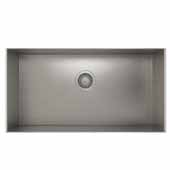 ProInox H0 collection undermount sink with single bowl in stainless steel 29''W x 18''D x 8''H