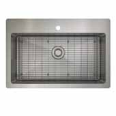 ProInox H0 kitchen sink dualmount, single with grid, stainless steel 33''W x 22''D x 9''H
