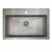 ProInox H75 kitchen sink dualmount, single, stainless steel 33''W x 22''D x 9''H