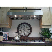 - Range Hood Turbo Fan w/Single Blower - 395 CFM, 30'' W x 22'' D x 10'' H, Stainless Steel