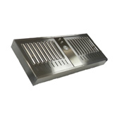 Ventilator Power Pack with Air Ring Fan & Slim Baffle Filters, Stainless Steel, 325 - 390 CFM, Different Sizes Available