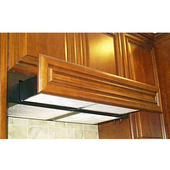 30'' W Flush Cabinet Mount Slide Out G3000 Series Range Hood, 360 - 635 CFM, Wood Front Ready