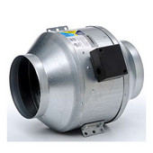 In-Line Blower with Clamps and Back Draft Dampers, 8'' & 10'' Vent Opening Available