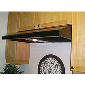 Slim Line Step Slope Under Cabinet Mount Range Hood, 360 - 735 CFM, Numerous Finishes & Sizes Available