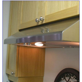 Slim Line 30'' Under Cabinet Mount Range Hood, 750 CFM, Stainless Steel, Multiple Widths & Finishes Available
