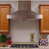 WHP1900 Wall Mount Pyramid Range Hood with 8'' Duct, 750 - 1290 CFM, Various Finishes & Sizes Available