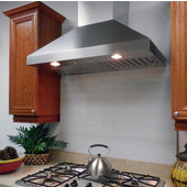 Wall Pyramid Range Hood with Slim Baffle Filters, 570 - 675 CFM, 7'' Duct, Different Sizes & Finishes Available