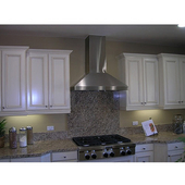 Wall Pyramid Range Hood with Air Ring Fan, 400 CFM, Numerous Sizes & Finishes Available
