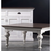 Infinita PROVENCE Square Solid Mahogany Wood Accent Coffee Table in White Finish, 39-1/2'' W x 39-1/2'' D x 19-7/10'' H