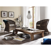 Infinita Wickerworks Bonsun Wicker Dining Armchair Set with Two (2) Chairs and Cushions, 22-4/5'' W x 22-4/5'' D x 33-9/10'' H