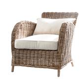 Infinita Wickerworks Earl Wicker Lounge Armchair Set with Two (2) Chairs, 32-3/10'' W x 37'' D x 35-1/2'' H