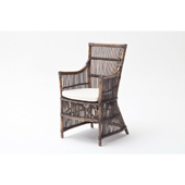 Infinita Wickerworks Duchess Wicker Dining Armchair Set with Two (2) Chairs and Cushions, 22-1/10'' W x 23-3/10'' D x 40-3/5'' H