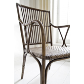 Infinita Wickerworks Duke Wicker Dining Armchair Set with Two (2) Chairs and Cushions, 22-4/5'' W x 25-3/5'' D x 40-1/5'' H