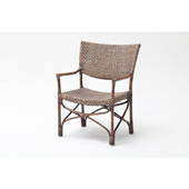 Infinita Wickerworks Squire Wicker Dining Armchair Set with Two (2) Chairs and Cushions, 29-3/5'' W x 23-3/10'' D x 39'' H