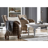 Infinita Wickerworks Baron Wicker Lounge Armchair Set with Two (2) Chairs and Cushions, 27-1/5'' W x 29-3/5'' D x 35-9/10'' H
