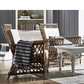 Infinita Wickerworks Marquis Wicker Lounge Armchair Set with Two (2) Chairs and Cushions, 29-9/10'' W x 31-1/10'' D x 37'' H
