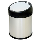 8 Gallon Sensor Touchless Trash Can, Stainless Steel with Round Extra-Wide Opening, 14.13''W x 14.75''D x 18.5''H