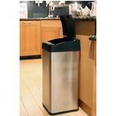 13 Gallon Extra-Wide Stainless Steel Automatic Sensor Touchless Trash Can