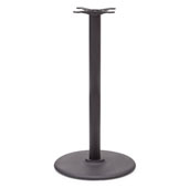 1900 Series 22'' Diameter Cast Iron Disc Table Base, Bar Height