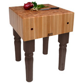 AB Block with 10'' Thick Hard Maple Top, French Roast, Numerous Sizes Available