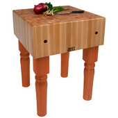 AB Block with 10'' Thick Hard Maple Top, Spicy Latte, Numerous Sizes Available