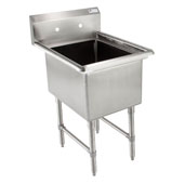 Budget Single Bowl Sink 24'' W x 24'' D x 14'' Bowl Depth with No Drainboard, 18-Gauge Type 430 Stainless Steel
