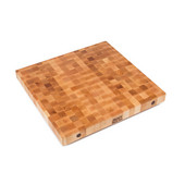 Premium 2-1/4'' Thick Hard Rock Maple End Grain Butcher Block Island Countertop 30'' W x 30'' D, Boos Block Cream Finish w/ Beeswax