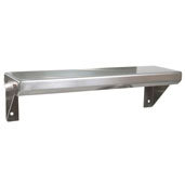 BHS Series Wall Mounted Spice Shelf 16'' W x 5'' D Flat Top, 16-Gauge Stainless Steel