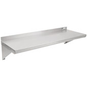 BHSG Series 72'' W x 16'' D Galvanized Wall Mounted Shelf