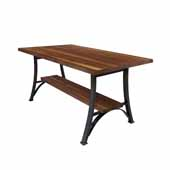 Foundry Collection 42'' Bistro Bar Height Table, American Black Walnut Wood Top With Wrinkle Black Base, 84''W x 36''D x 42''H