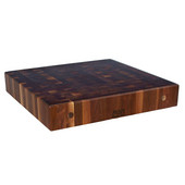 Premium 7'' Thick American Black Walnut End Grain Butcher Block Island Countertop 36'' W x 27'' D, Boos Block Cream Finish w/ Beeswax