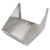 Stainless Steel Wall Mount Microwave Shelf, 24'' & 30'' Widths Available
