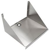 BMS Series 16-Gauge Stainless Steel Microwave Shelf, 30'' W x 20-3/4'' D x 15'' H