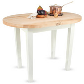Elliptical C-Table, Alabaster, Multiple Sizes Available with No Shelf, or 1 or 2 Shelves