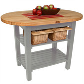 Elliptical C-Table, Slate Gray, Multiple Sizes Available with No Shelf, or 1 or 2 Shelves