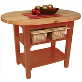 Elliptical C-Table, Spicy Latte, Multiple Sizes Available with No Shelf, or 1 or 2 Shelves