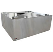 600 CFM Commercial Condensate Hood 42'' W x 42'' D x 19'' H, 18-Gauge Stainless Steel