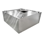 Type II Commercial Exhaust Vent Island Hood 72'' W x 45'' D, 18-Gauge Stainless Steel with 2 Vapor Proof Lights