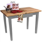 Classic Country Worktable, 48'' or 60'' W x 36'' D x 35''H, Slate Gray
