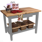 Classic Country Worktable, 36'', 48'', or 60'' W x 24'' D x 35''H, with 1 Shelf, Slate Gray