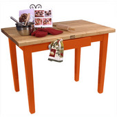 Classic Country Worktable, 48'' or 60'' W x 36'' D x 35''H, Spicy Latte
