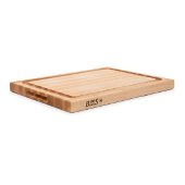 ''R'' Board w/ Groove Cutting Board, Northern Hard Rock Maple, Edge Grain, 20'' W x 15'' D x 1-1/2'' Thick, Juice Groove (One Side), Reversible w/ Recessed Finger Grips, Boos Block Cream Finish w/ Beeswax