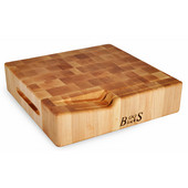 Cheese Board Collection Cheese Board with Slotted Knife Holder 12'' L x 12'' W x 3'' H, Hard Rock Maple Butcher Block