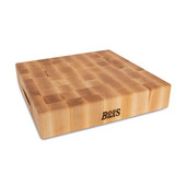 Chopping Block Collection Reversible 15'' L x 15'' W x 3'' Cutting Board with Grips, Maple End Grain
