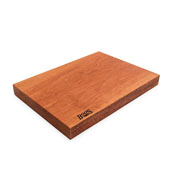 American Cherry Rustic-Edge Design Reversible Cutting Board, 17''W x 12''D x 1-3/4''H