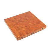 Premium 2-1/4'' Thick American Cherry End Grain Butcher Block Island Countertop 30'' W x 25'' D, Boos Block Cream Finish w/ Beeswax