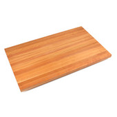 Ultra Premium 1-1/2'' Thick American Cherry Edge Grain Butcher Block Island Countertop 24'' W x 25'' D, Varnique Finish