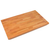 1-1/2'' Thick American Cherry Blended Butcher Block Island Countertop, Varnique Finish, 145''W x 38''D